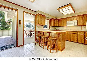 Rustico sbarra sgabelli cucina sbarra countertop legno