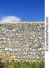 rustico, parete, pietra