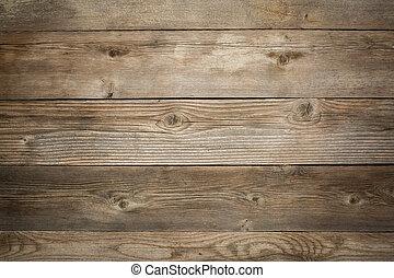 rustiek, achtergrond, verweerd hout