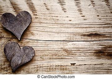 rustik, heart.