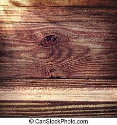 rustik, trä, åldrig, plankor