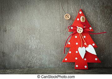 rustik, trä, -, dekoration, bakgrund, jul