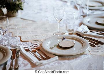Rustic decoration elements of a wedding
