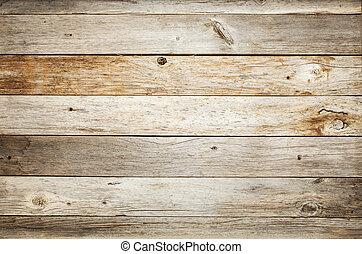 rustique, bois, fond, grange