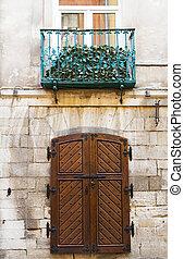rustique, bois, vieux, portail