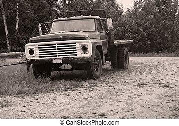 rustique, camion