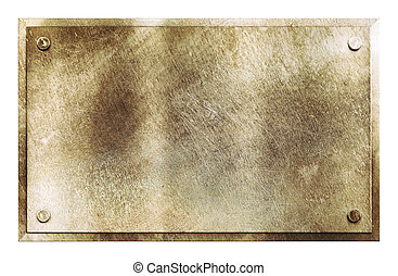 rustique, laiton, métal, texture, signe