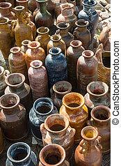 rustique, poterie, mexicain