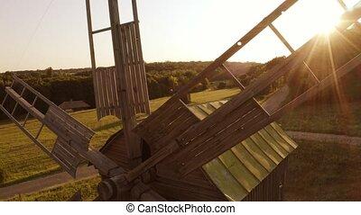 rustique, vieux, bois, windmill.