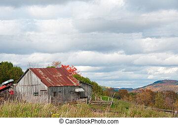 rustique, vieux, grange