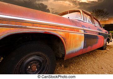 rustique, voiture, vieux