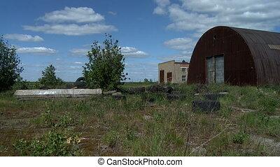 Rusty abandoned hangar