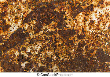 Rusty abstract background with old white paint.