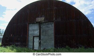 Rusty and old hangar