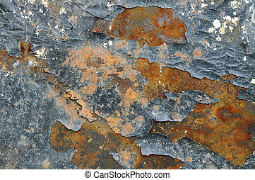 rusty and scratching on iron wall texture and background