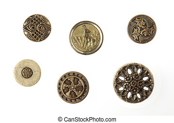 Rusty Antique Metal Buttons