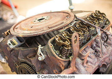 Rusty automotive engine