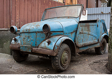 Rusty car from USSR.