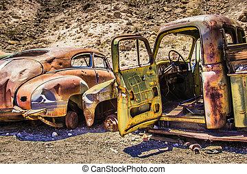 Rusty Car in the Desert