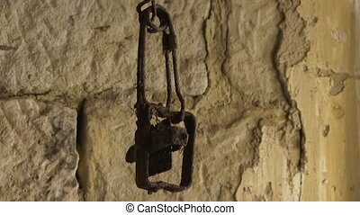 Rusty chain inside a house