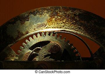 Rusty Clock Wheel