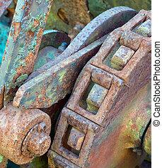 Rusty cog wheel
