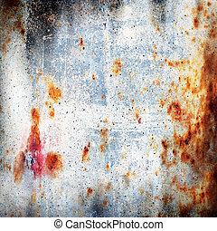 rusty-coloured, grunge, hintergrund