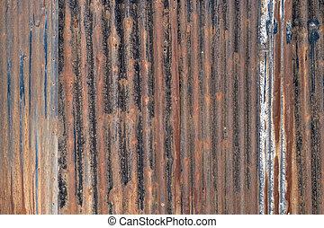 Rusty corrugated  galvanized iron plate - Rusty galvanized ...