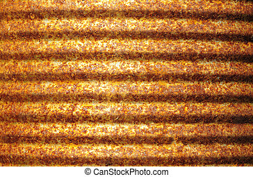 Rusty corrugated metal surface