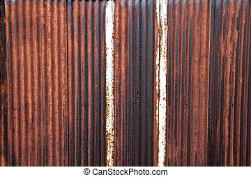 Rusty Corrugated Steel Sheets