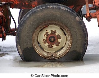 Rusty cracked tire