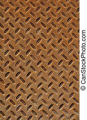 Rusty Diamond Plate that can be used for background