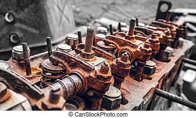 Rusty diesel engine