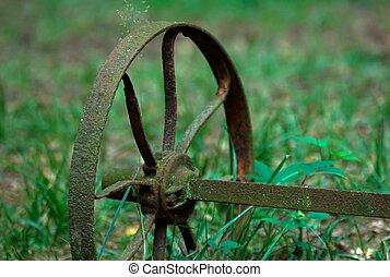 Rusty farming tool