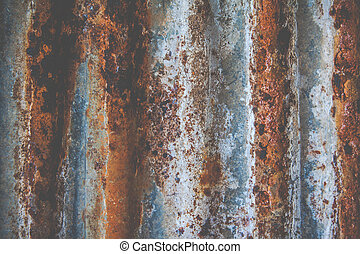 Rusty galvanized iron plate - Rusty galvanized iron wall...