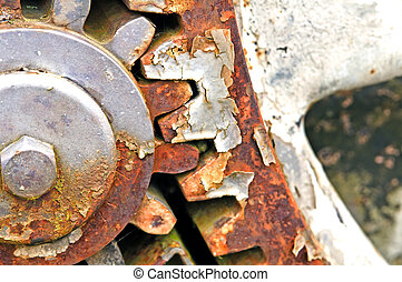 rusty gear-wheel