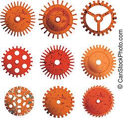 Rusty gears vector