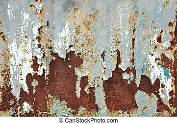 Rusty grunge texture on metal