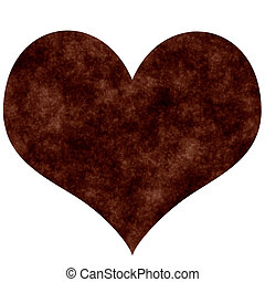 Rusty Heart - Rusty heart isolated in white