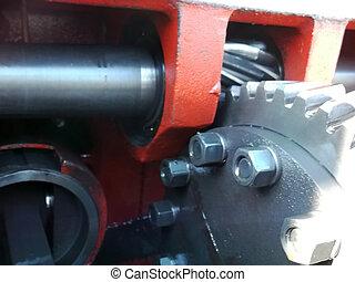 rusty industrial engine