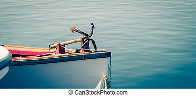 rusty iron anchor