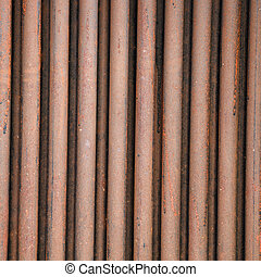 Rusty Iron fence - The rusty old metal fence
