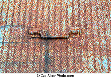 rusty iron plate background