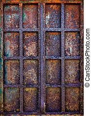 Rusty Iron Window