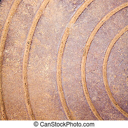 rusty iron with curves