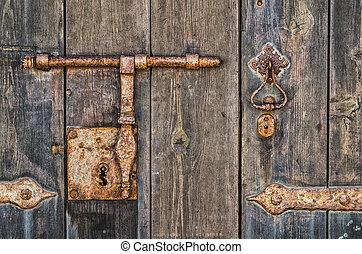 Rusty key-hole