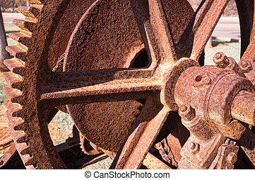 Rusty machine - Detail take of a rusty vintage machine