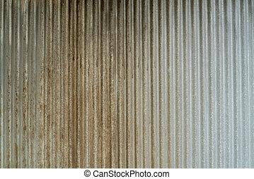 Metal corrugated - Rusty Metal corrugated sheet texture...