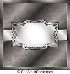 Rusty metal frame