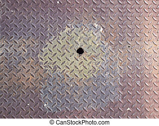 Rusty metal grate background